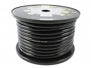 CCA PCB 4 - 1m CCA Power Cable - 21,4mm² Black